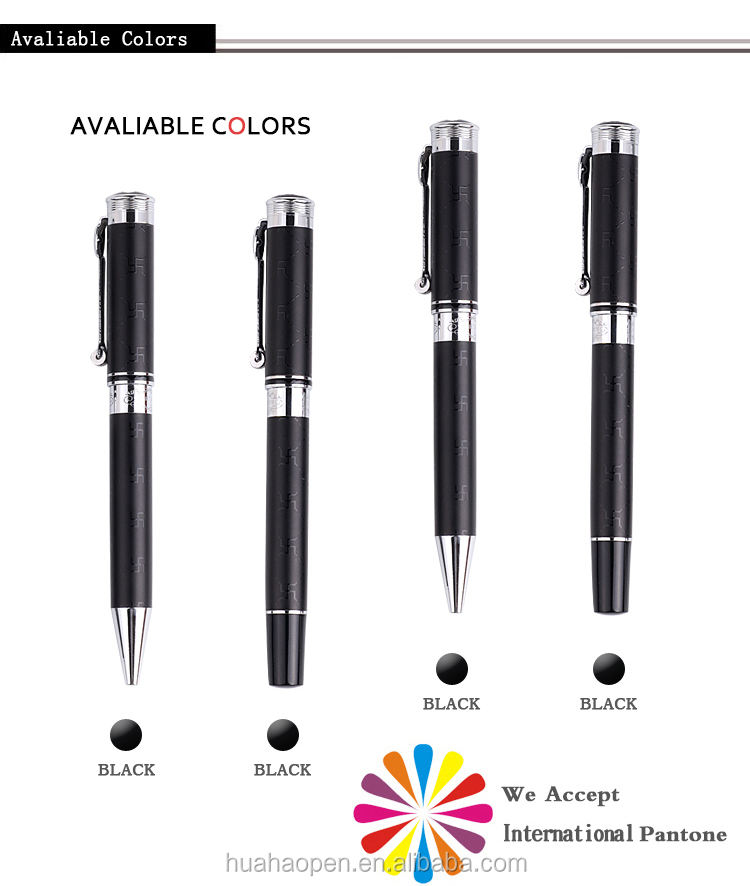 Wholesale china merchandise new design nice ball pen & roller pen metal pen set