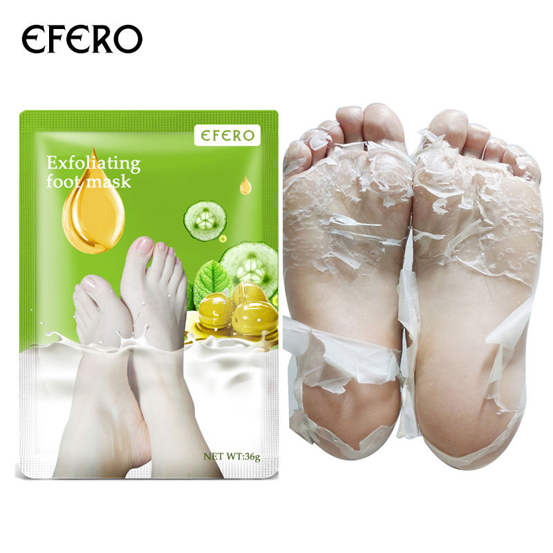 OEM 3Pair=6PCS Peeling Exfoliating Scrub Pedicure Spa Socks Foot Peel Feet Care For Heels Remove Dead Skin Moisture Foot Mask