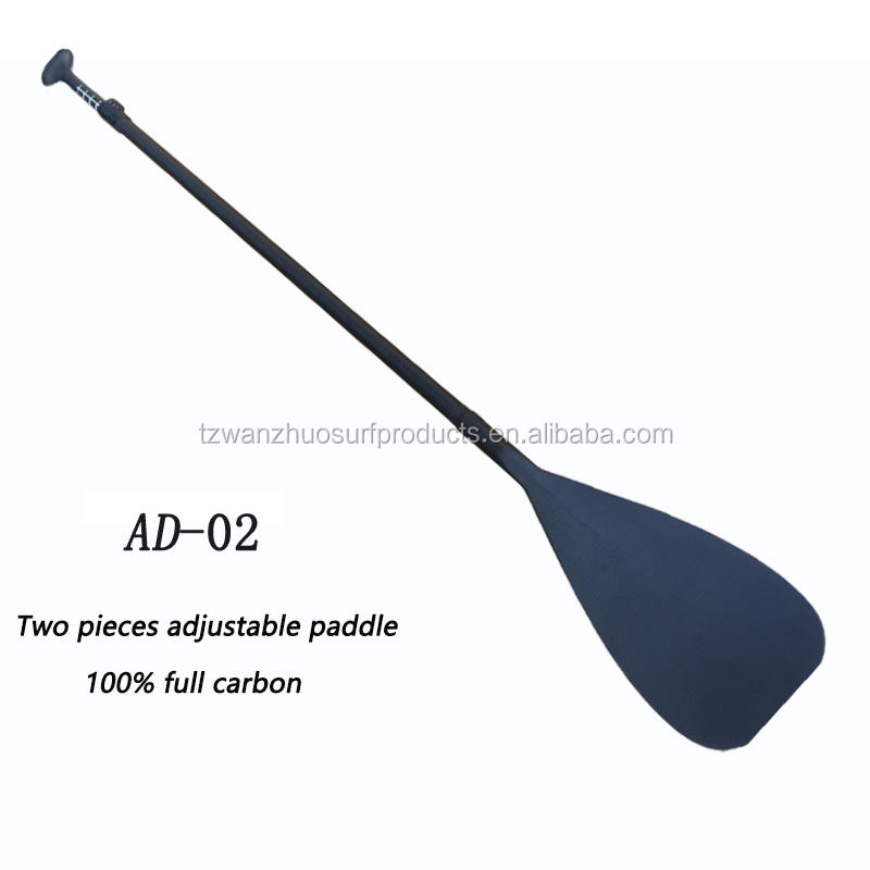 Surfing Paddle High Quality 2/3 Pieces Adjustable Full Carbon Fiber Paddle OEM SUP Paddle