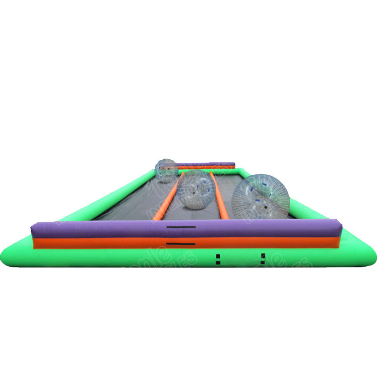 Costumbre inflable triple carril zorbie pista, Bola del Zorb inflable pista de carreras para la venta