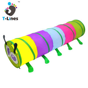 Colorful caterpillar kids play tent crawl tunnel for outdoor