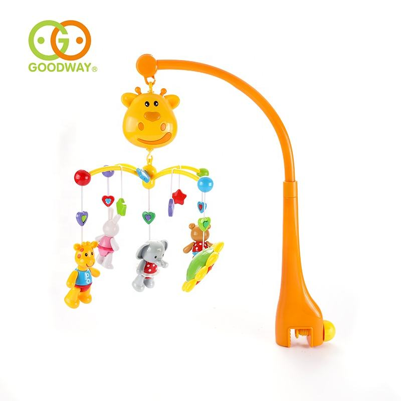 colorful electric animals musical mobile for baby cot newborn sleepy