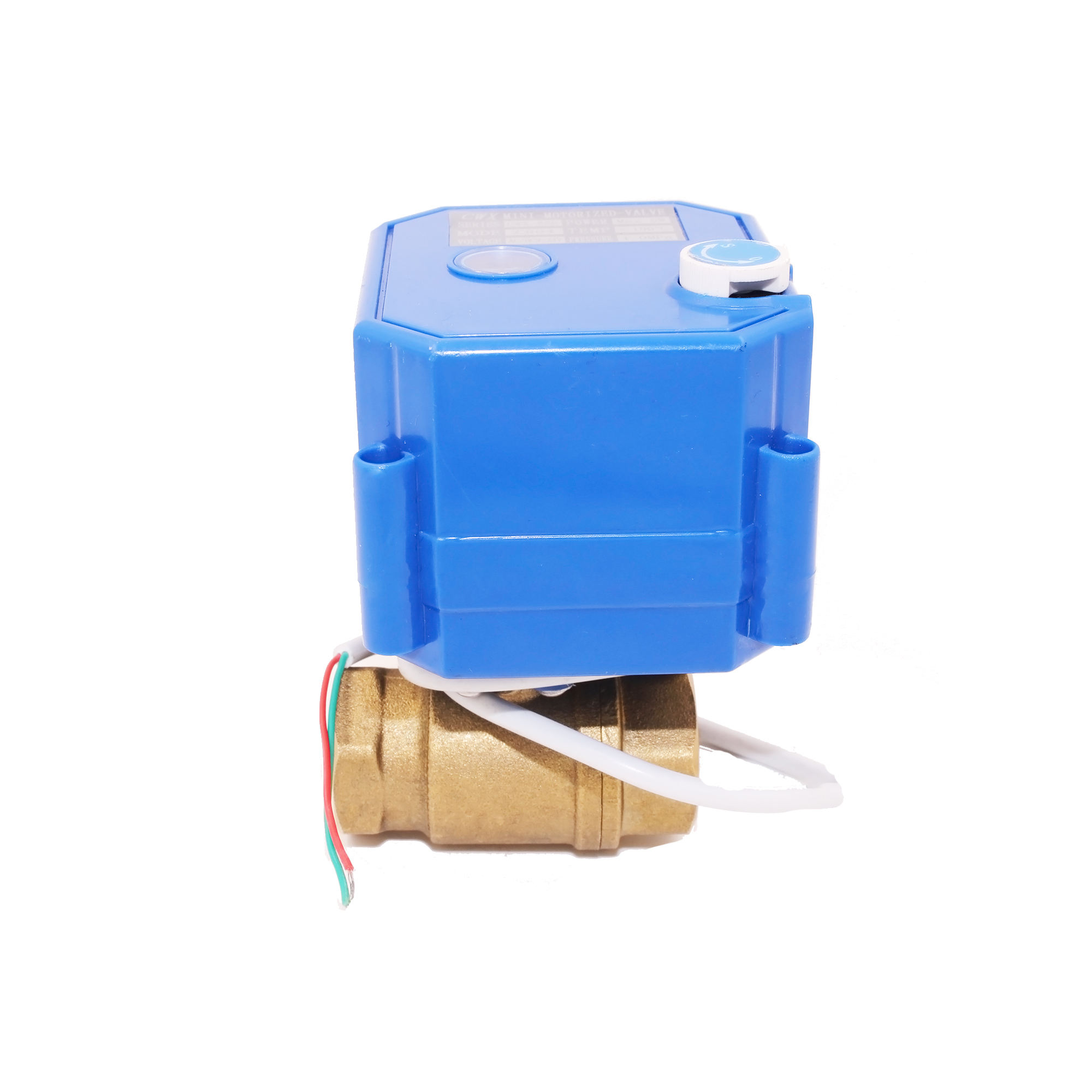 CWX-25S mini electric actuator control ball valve with manual override function DN15 DN20 DN25 brass for smart use