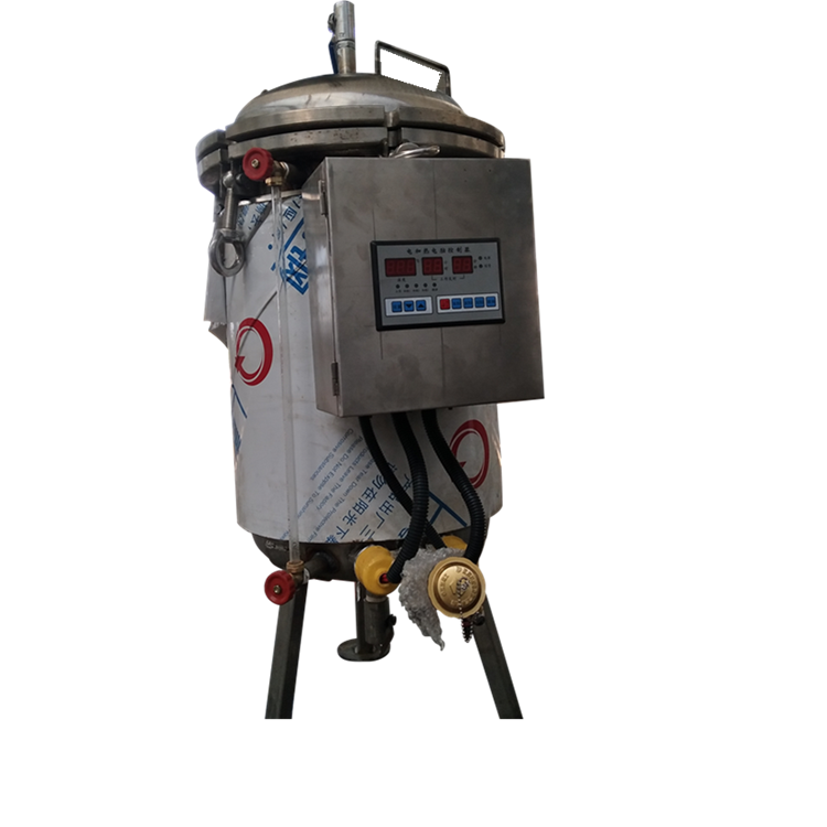 Vertical high pressure steam sterilizer autoclave for canned food