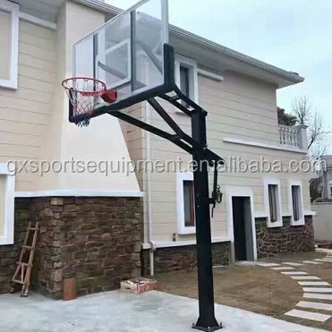 Cheap Outdoor Round Pipe Inground Basketball Stand Hoop for School Use
