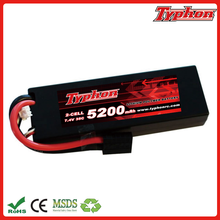 5200mah 35c 7.4v 2s Hardcase lipo battery for Kyosho GP 4WD RACING TRUCK Team Associated SC8