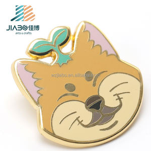 2018 New hot sale custom hard enamel gold plated metal Lapel Pin for kids