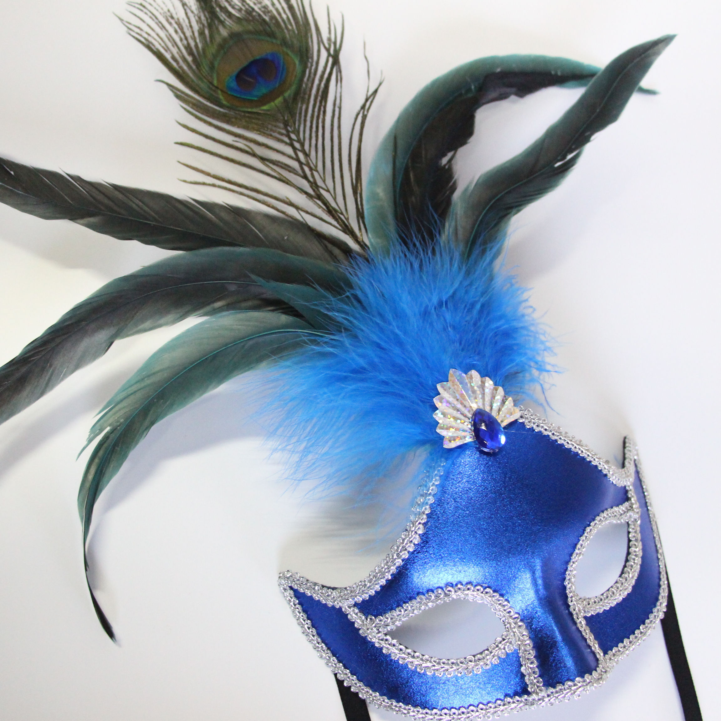 Wholesale Party Masquerade Mask Cock Feather And Peacock Feather Mask For Halloween Products