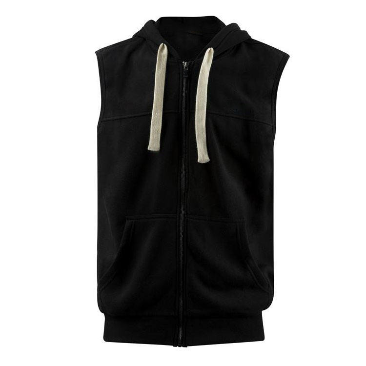 Western Design Black Sports Vest Pullover Sleeveless Hoodies