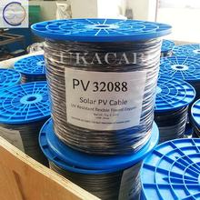 solar cable tuv  100 meter roll 4mm twin core dc solar panel pv cable