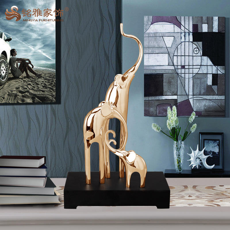 China import items decor voor thuis abstracte hars olifant sculptuur