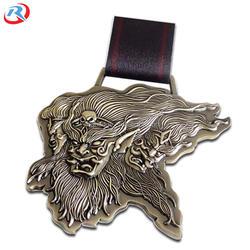 wholesale silver  soft enamel zinc alloy 3d metal medal