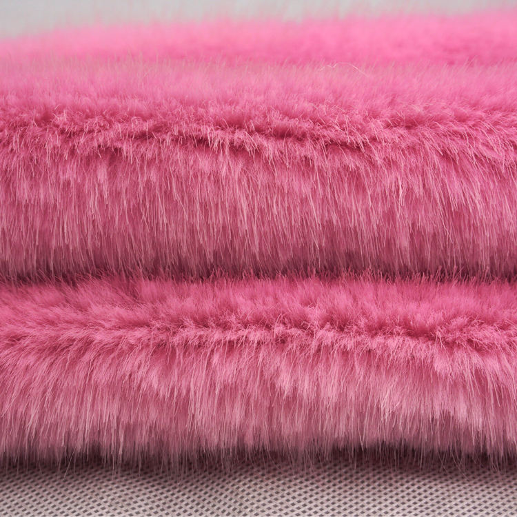 Customized high quality soft thermal long pile knitted plush fake faux fur fabric