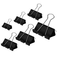 Different size standard shape black color big size metal paper clamps binder clip