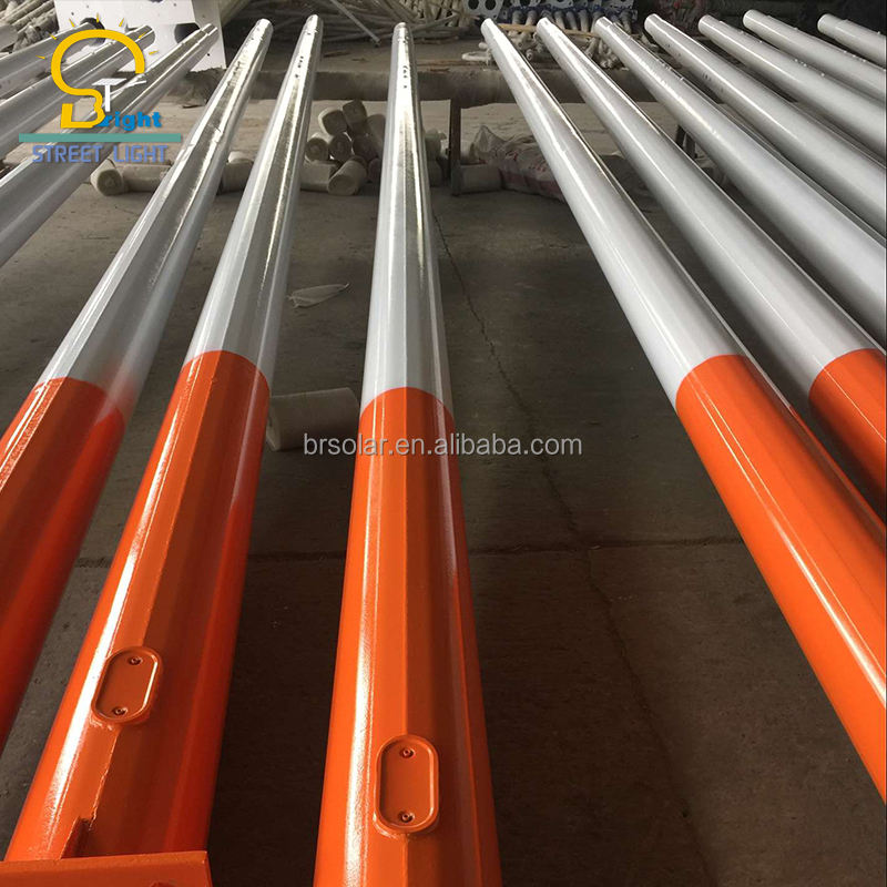 Hot-dip-galvanized Steel Pole Manufacturer outdoor lamp post Factory street light poles