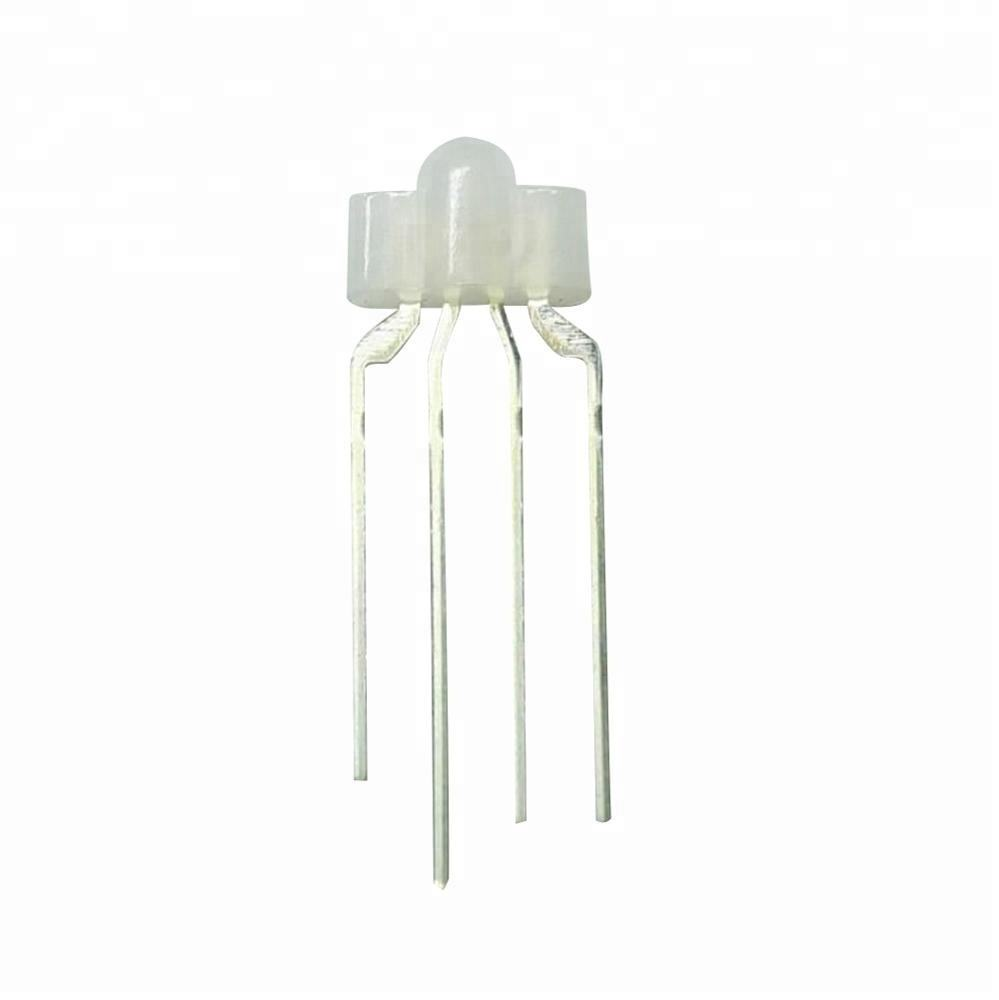 Free samples 5mm led 4 pin RGB 2.54mm pitch led diode for gaming mechanical keyboard lights
