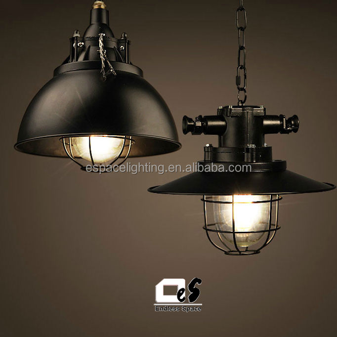 Vintage Metal E27 Pendant Ceiling Light Lamp Bulb Shade Industrial Retro