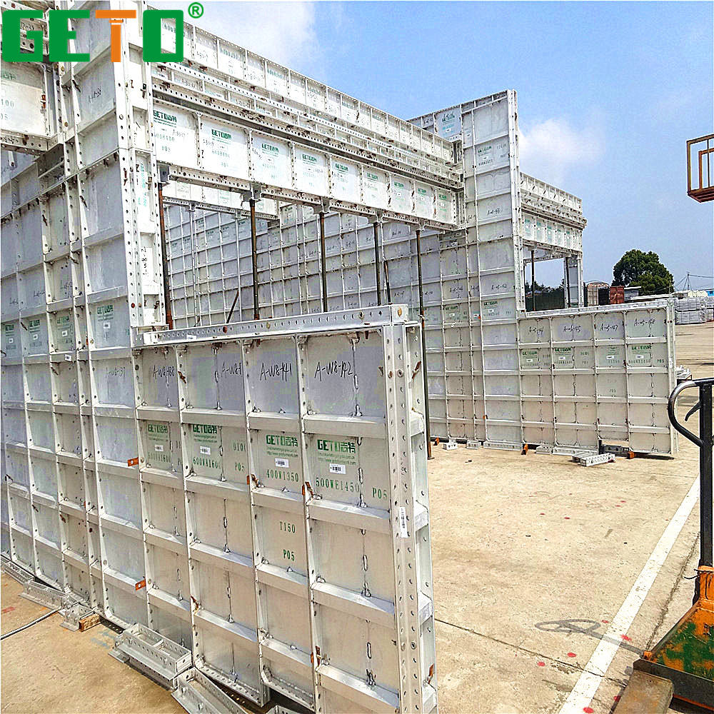 Lower cost high efficiency euro form for concrete wall with low price building house