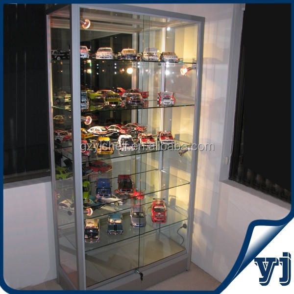 Functional Tempered Glass Display /Shopping Mall and Exhibition Aluminum Glass Showcase/Glass Wall Perfume Display Cabinet