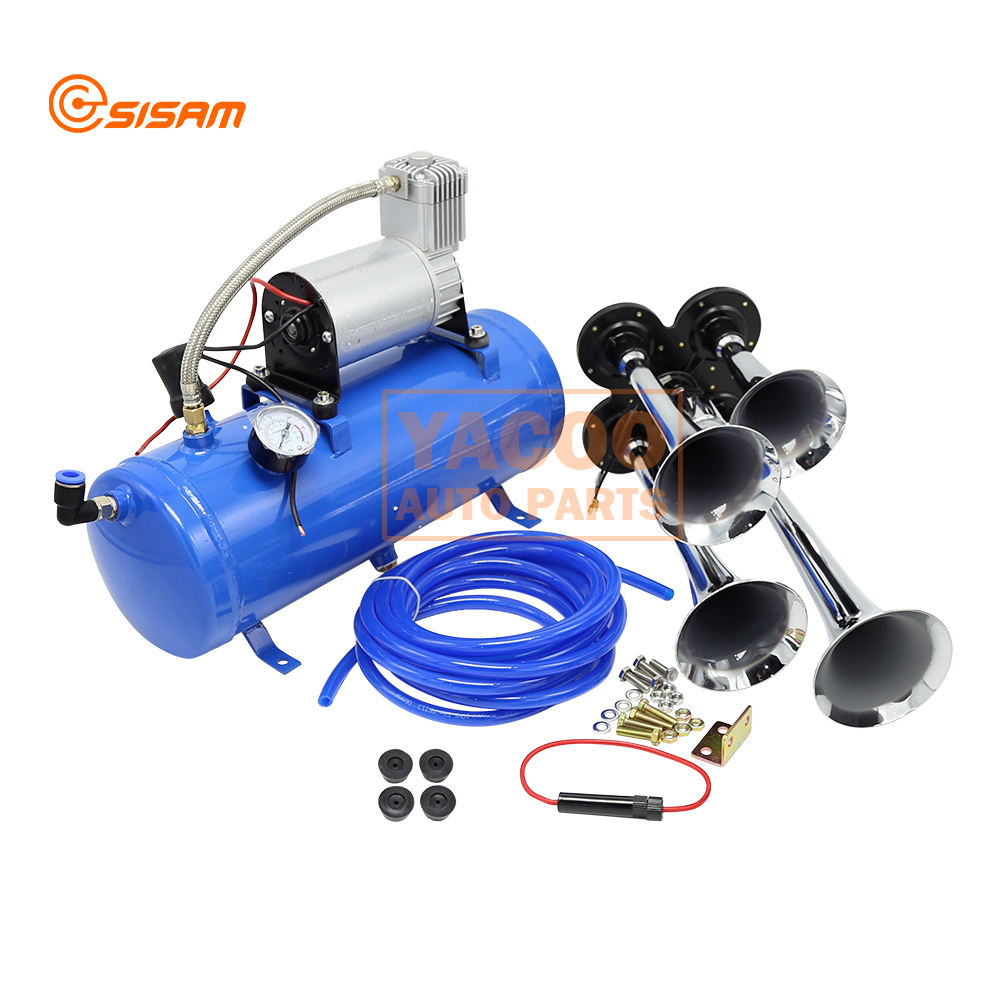 150PSI 6L Air Compressor Kit 12v 24 v Air Pressure Horn for Trucks Train Bus Car Trumpet