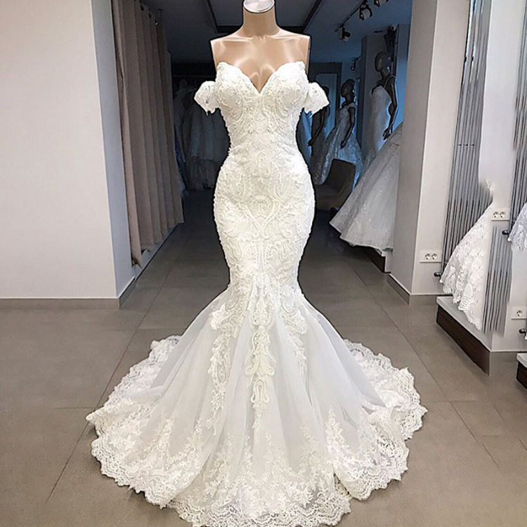 China Mermaid Sweetheart Lace Wedding Dress China Mermaid Sweetheart Lace Wedding Dress Manufacturers And Suppliers On Alibaba Com
