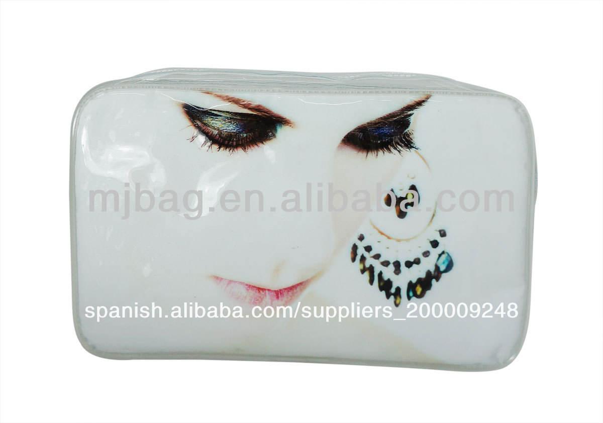 2013 nuevos productos transparente de pvc de moda bolsa de cosméticos para mujeres