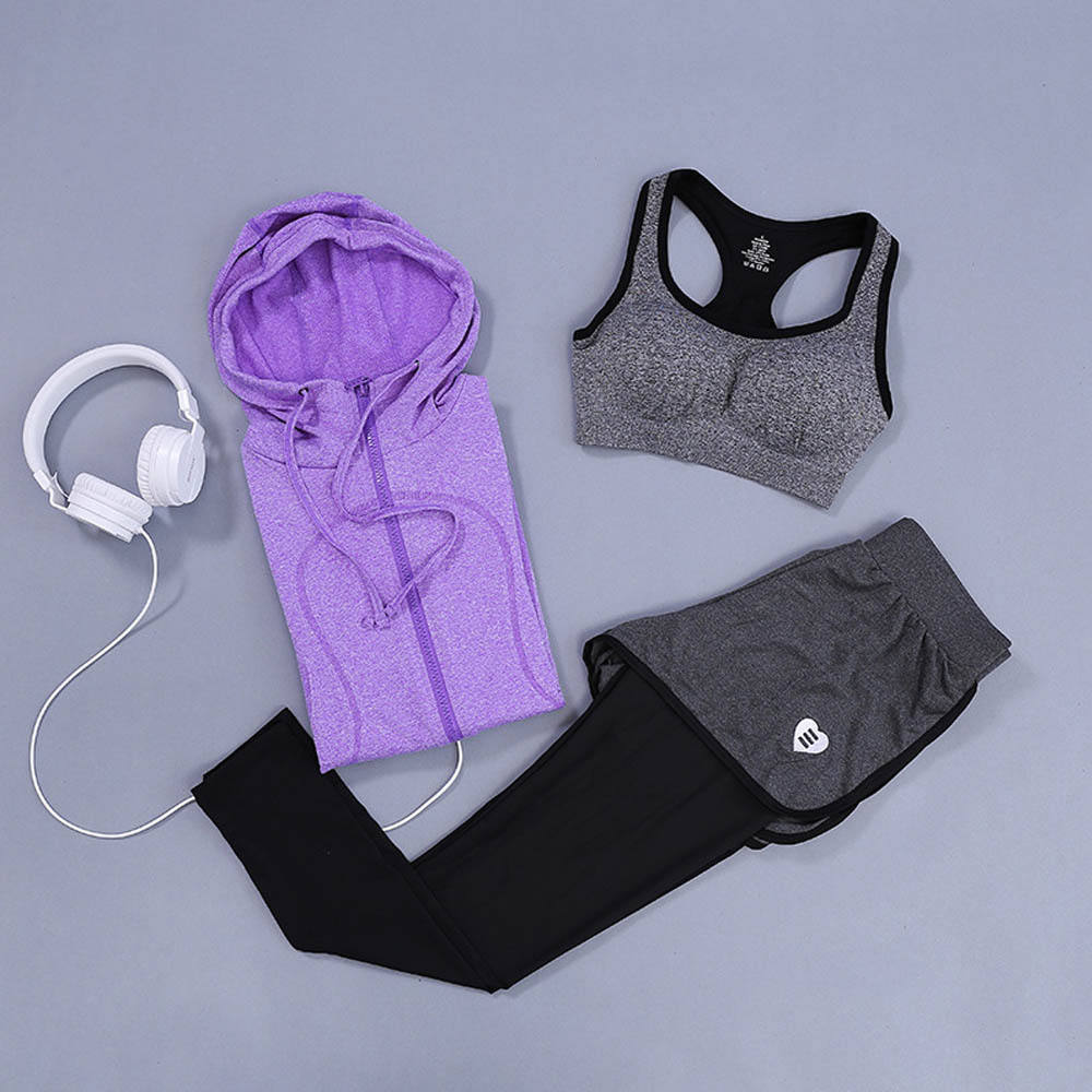 Double Layer funny wholesale running wear shorts three-piece sets for yoga, cycling, running and GYM