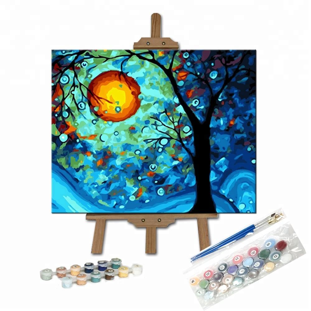 Famous Dream Tree Adult Kids DIY Practice Painting Paint by Number Set