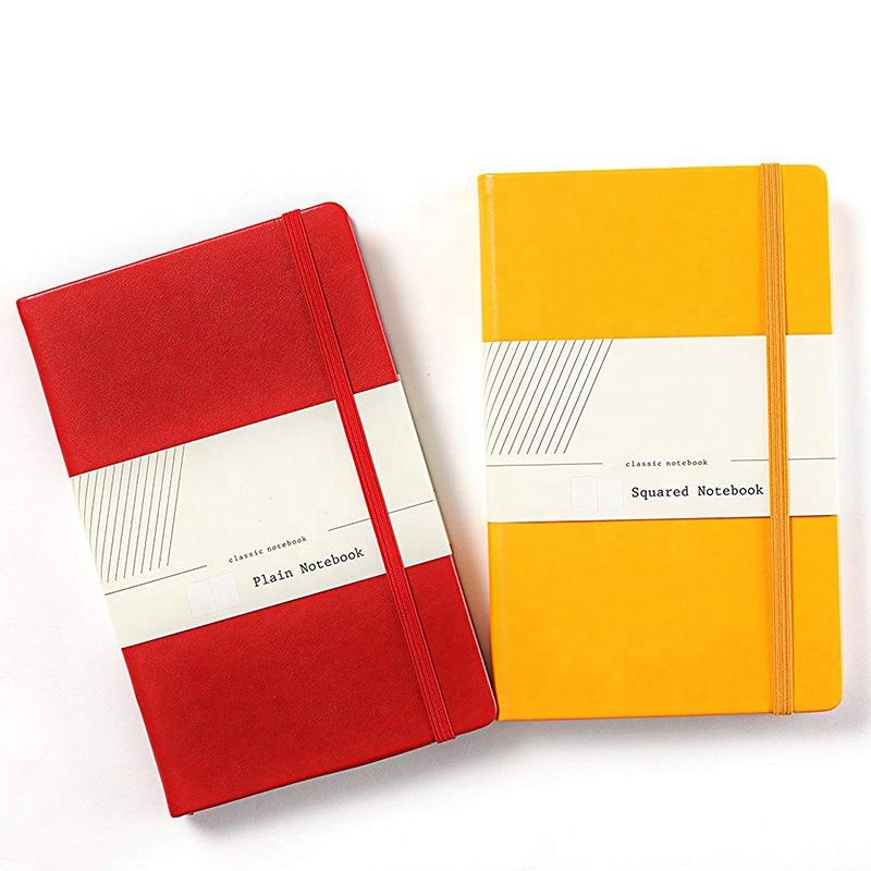 Wholesales custom logo printed plain hardcover a5 leather notebook