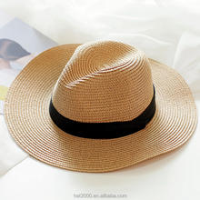 New Fashion Classic Outdoor Casual travel high quality solid OEM China panama hat manufacturer