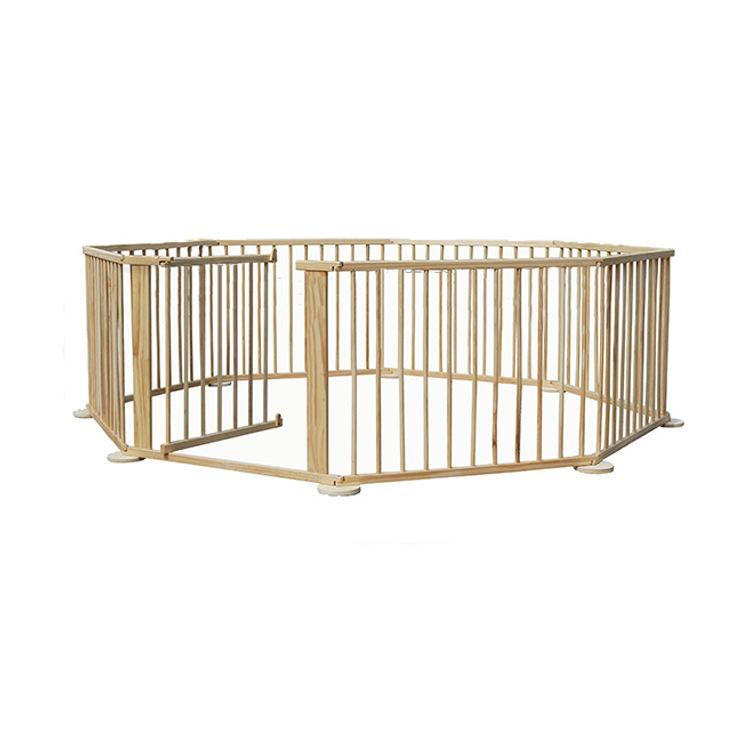 High Quality and Safety Kindergarten Indoor Wooden Baby Folding Playpen