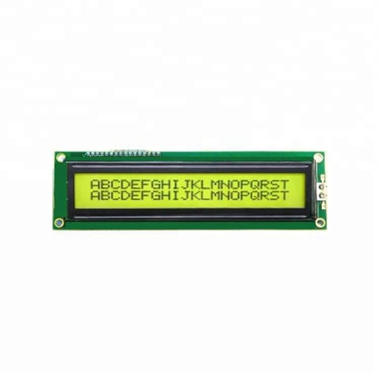 yellow-green light 20x2 character cog monochrome parallel lcd lcm with backlight