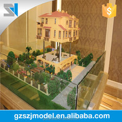 Hot selling miniature house building model with lift up 3d building model