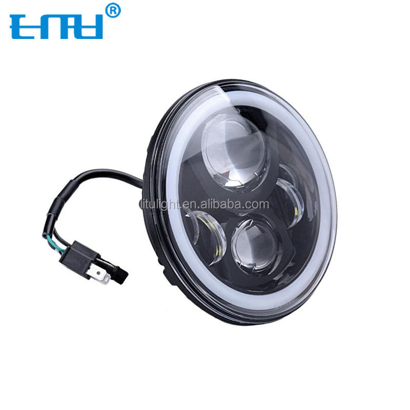 2020 LITU 45w 7 inch 9-32V Round LED Headlight with high/low beam for car or motorcycle