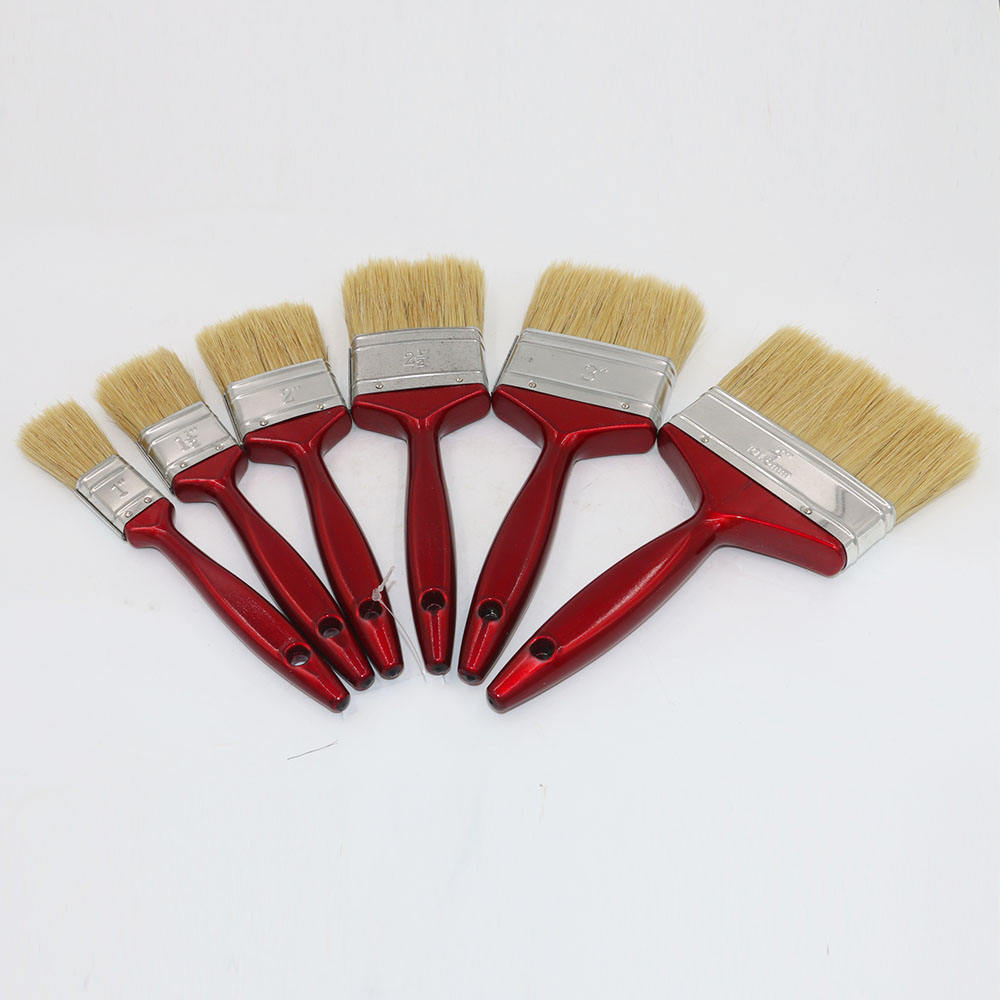 Red Wooden Handle Bristle Paint Brush