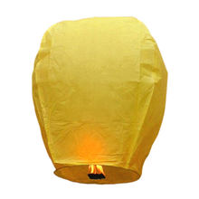 Meilun Art Crafts Yellow  Oval Flying 17g flame retardant copy paper Sky Lantern used for party or festival celebration