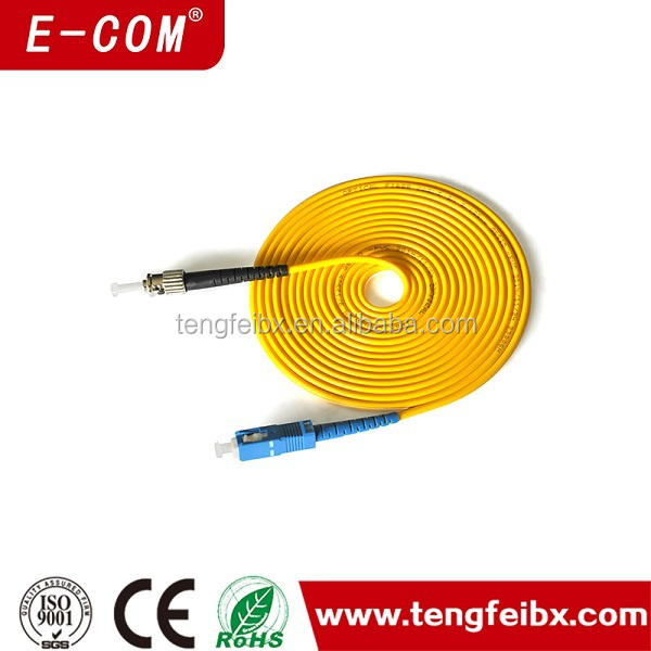 Best price factory offer sc to st patch cord jumper wire cable for fiber optical networking 5 meter sc to st patch cord