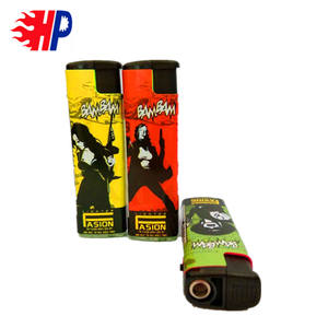 wind-proof lighters cheap customized gas lighter with paper