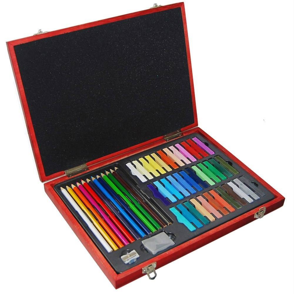 51-piece Sketching and Drawing Artist Set in wooden kit art set