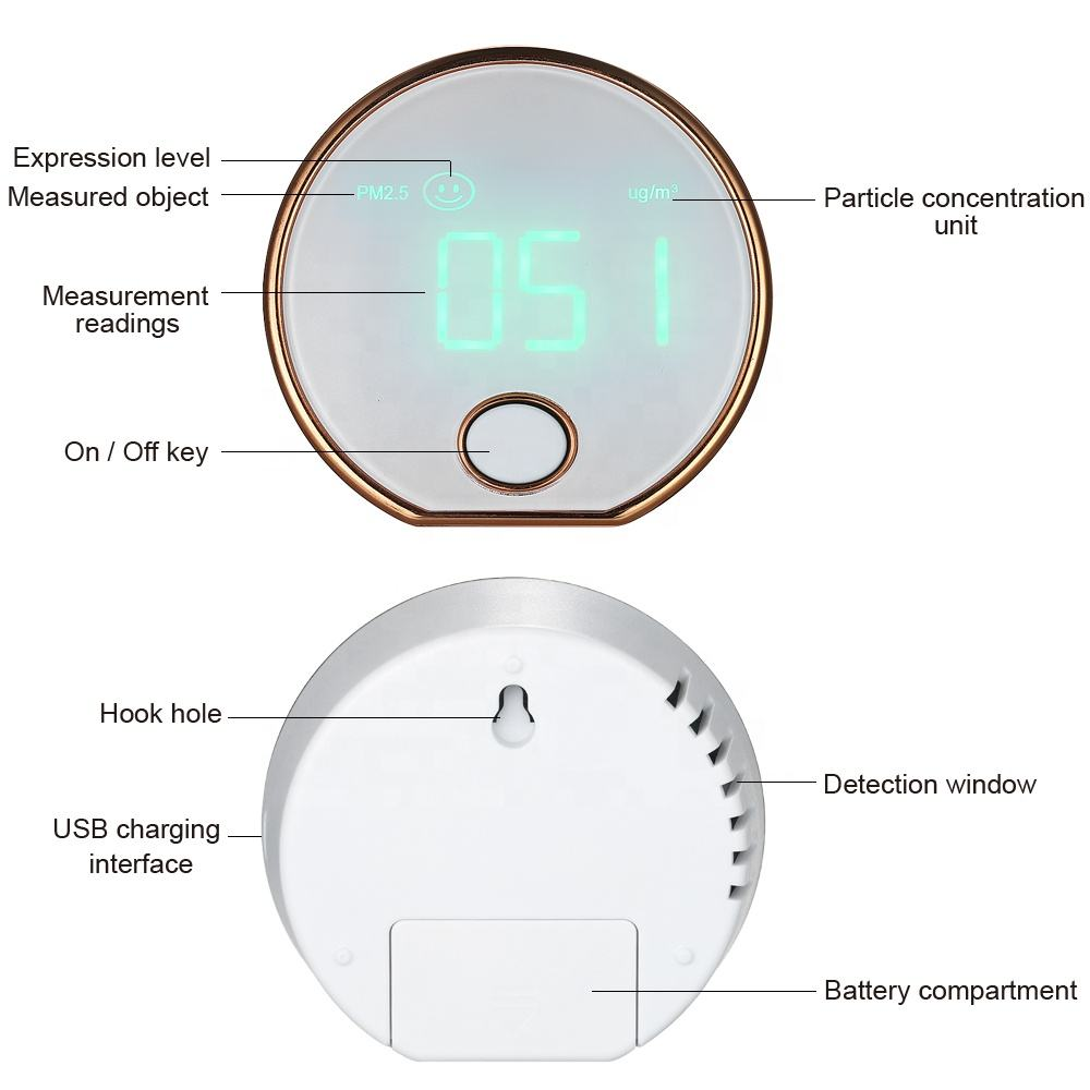 PM2.5 Detector Digital Air Quality Monitor model HT-403 Indoor Dust PM2.5 Meter Detector Air Monitor Air Particle Counter