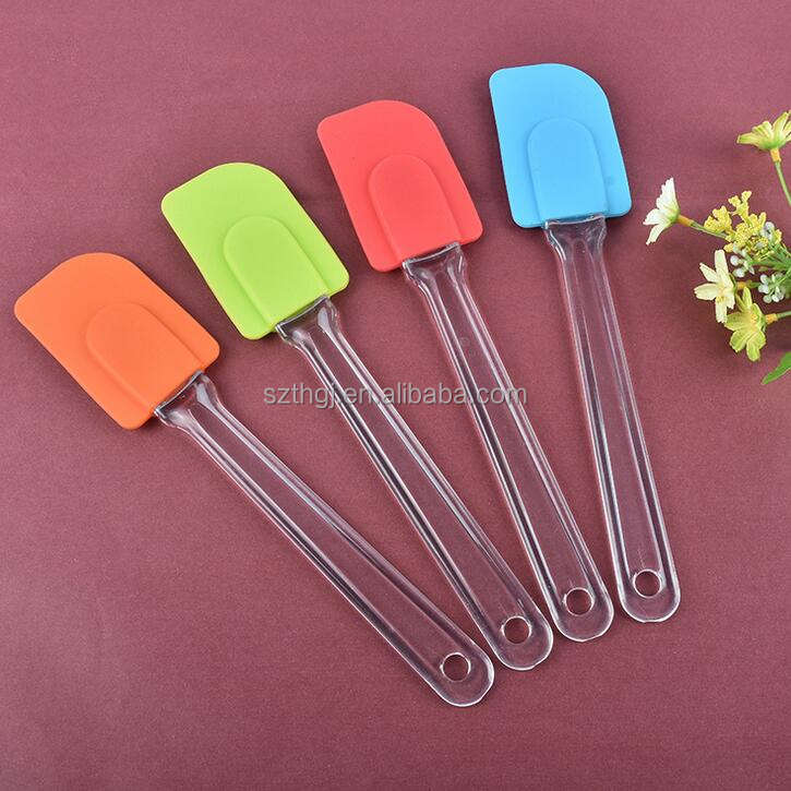 Heat resistant pastry tools silicone dough scraper silicone spatula with plastic handle