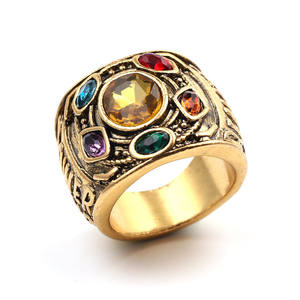 Amazon Hot Selling Marvel Avengers Endgame Infinity Stone Thanos Ring Voor Mannen Vrouwen
