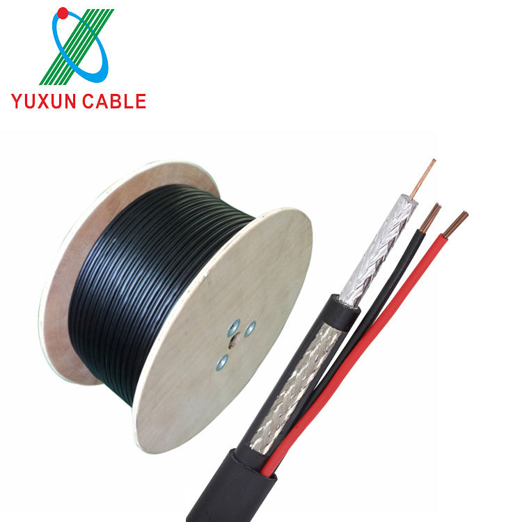 Packaging Customization Cable Coaxial Cable 3 In 1 CCTV Cable RG59 2C Coaxial Cable With Power Cable For Video Surveillance Systems