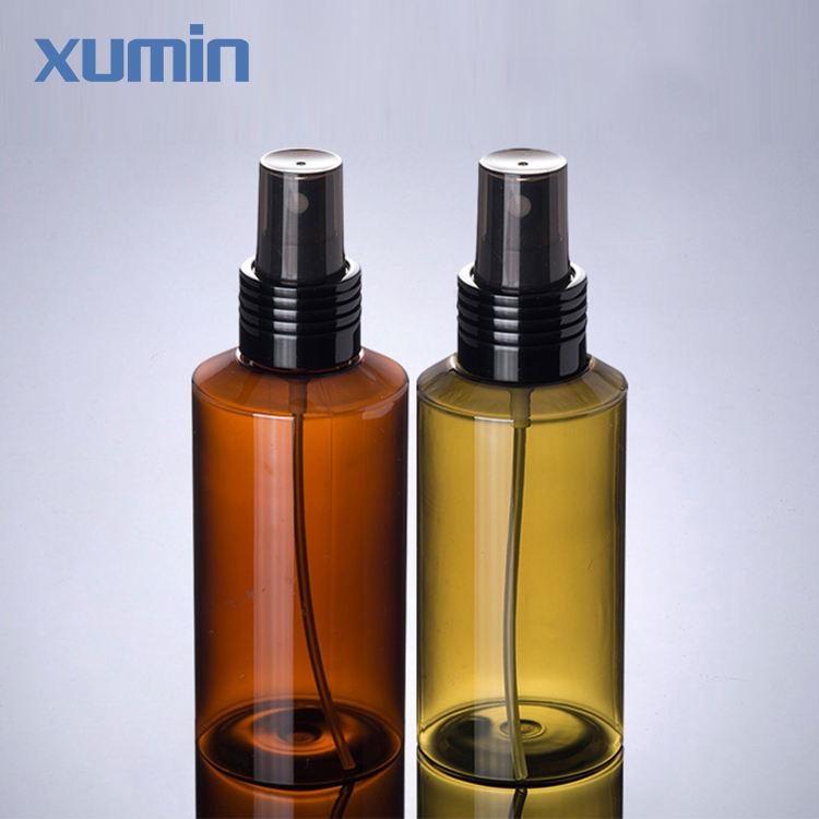 Мода упаковки черный Спрей Cap склонны плечо 100 мл зеленый янтарь пластиковые косметические ПЭТ бутылку