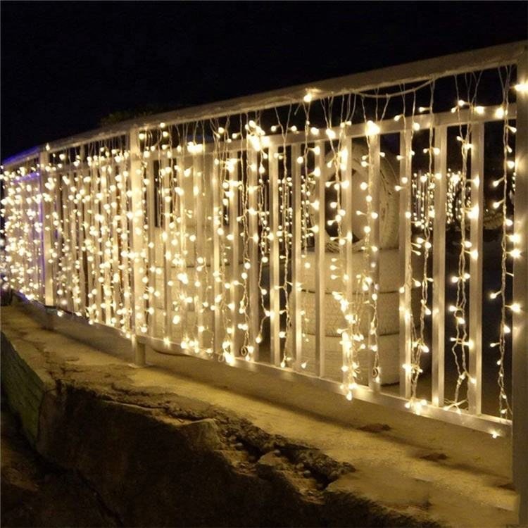 Liangliang Ijspegel LED String Lights Kerst Decoratie String Fairy Light Gordijn