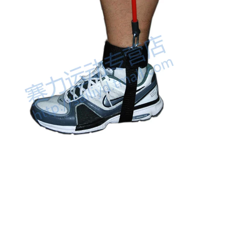 adjustable ankle cuffs straps with woven under feet for resistance tubing exerciser trainer
