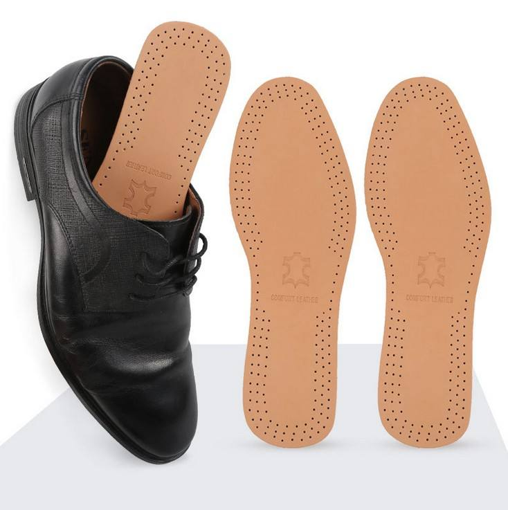 Insoles wholesale Comfort flat genuine leather and latex material shoe insoles high quality cushion insoles