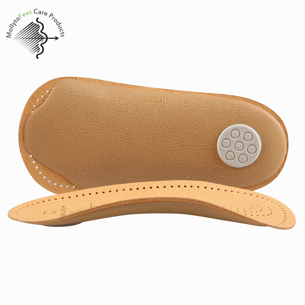 Genuine Leather Arch Support Orthotic Shoe Insoles