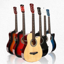 Wholesale musical instrument HEBIKUO Y-38C guitar 38 inch basswood plastic acoustic guitar