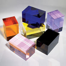 colorful crystal glass cube paperweight for married gift